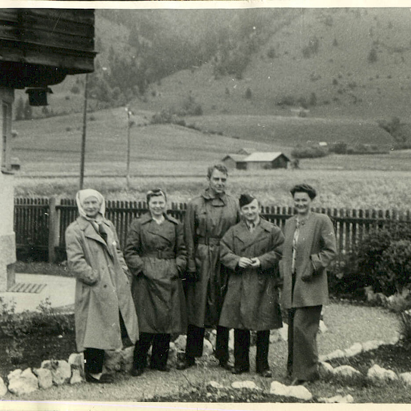 Ben, second from right, and Gertrude, second from left, in Bavaria, 1946
