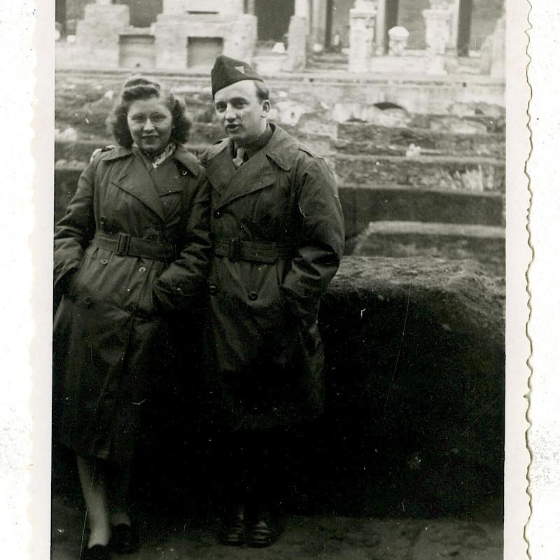 Ben and Gertrude in Rome, Christmas 1946
