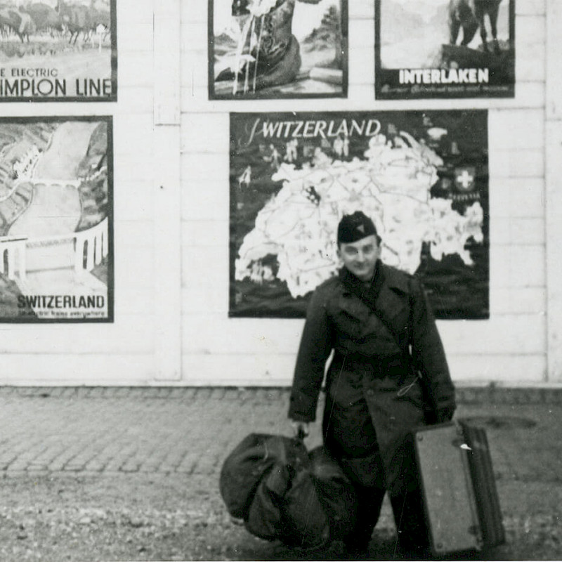 Ben en route to Switzerland at the beginning of an American Express tour, December 1946