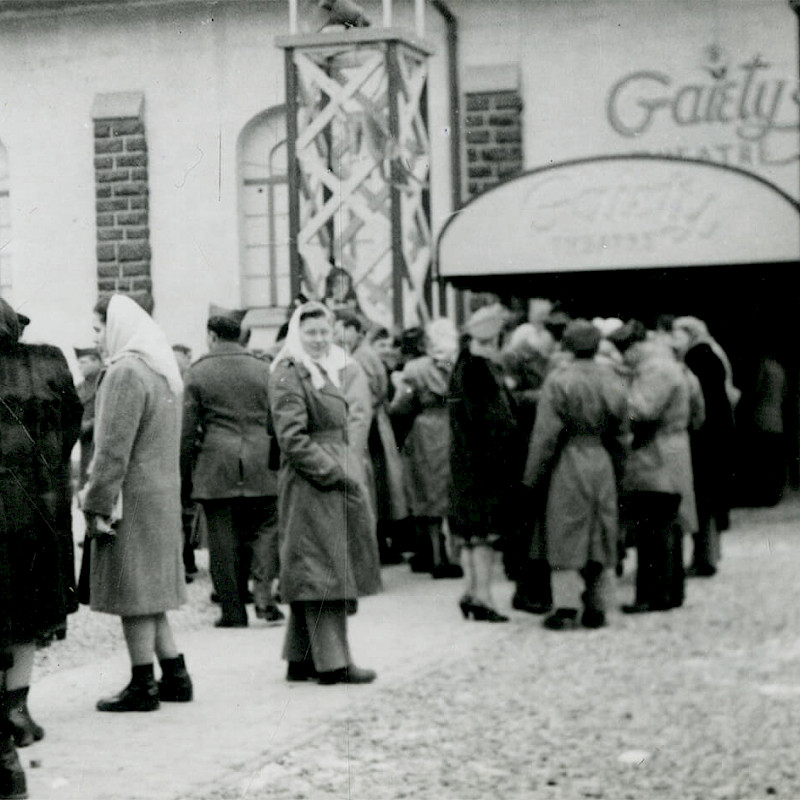 Gertrude en route to Switzerland at the beginning of an American Express tour, December 1946