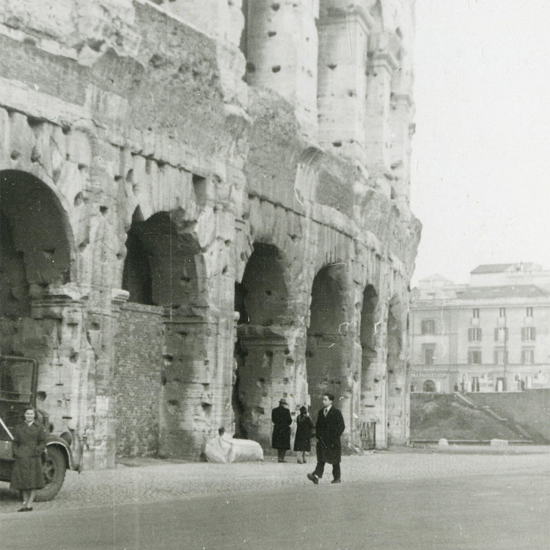 Ben and Gertrude at the Coliseum in Rome, December 1946