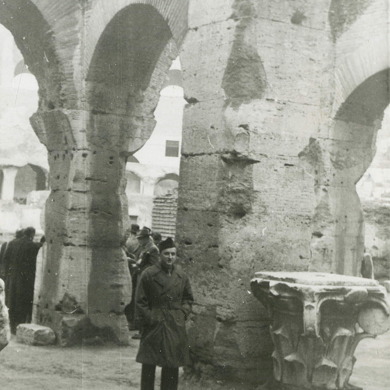 Ben at the Coliseum in Rome, December 1946