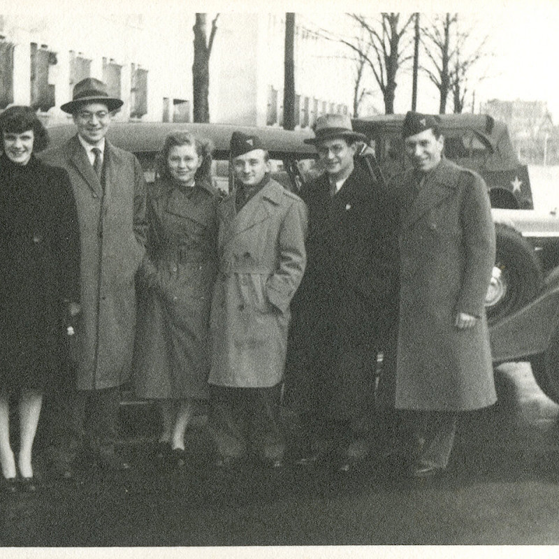 Ben and Gertrude (middle) in Berlin, November 1946